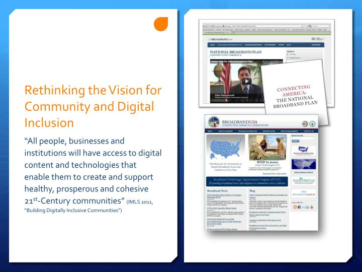 Rethinking the Vision for Community and Digital Inclusion