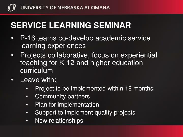 Service learning seminar