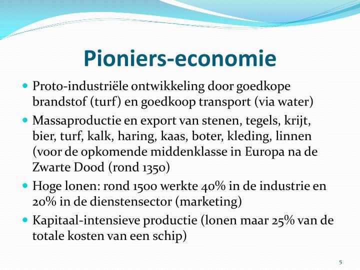 Pioniers-economie