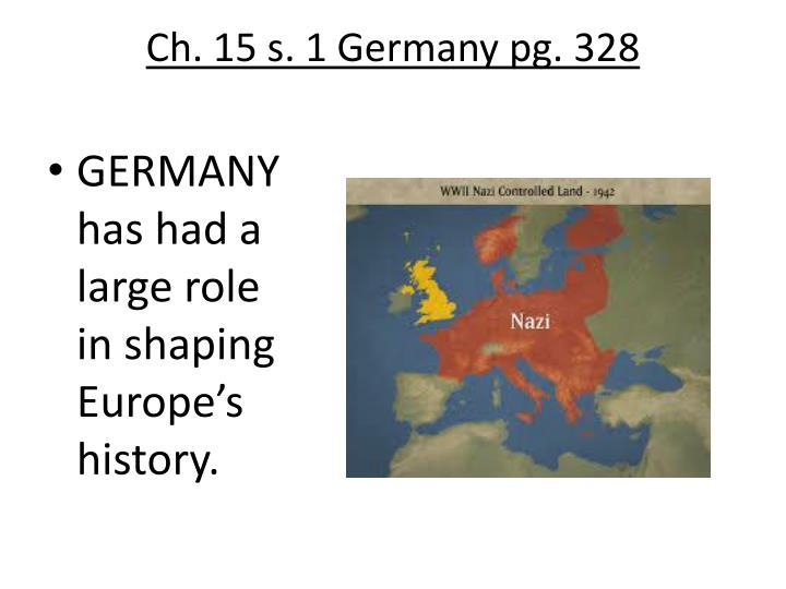 Ch. 15 s. 1 Germany pg. 328