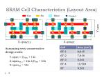 sram cell characteristics layout area