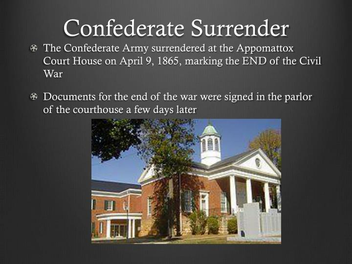 Confederate Surrender
