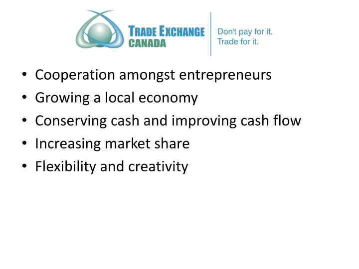 Cooperation amongst entrepreneurs