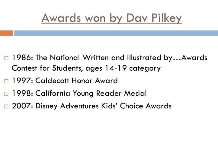 Awards won by Dav Pilkey