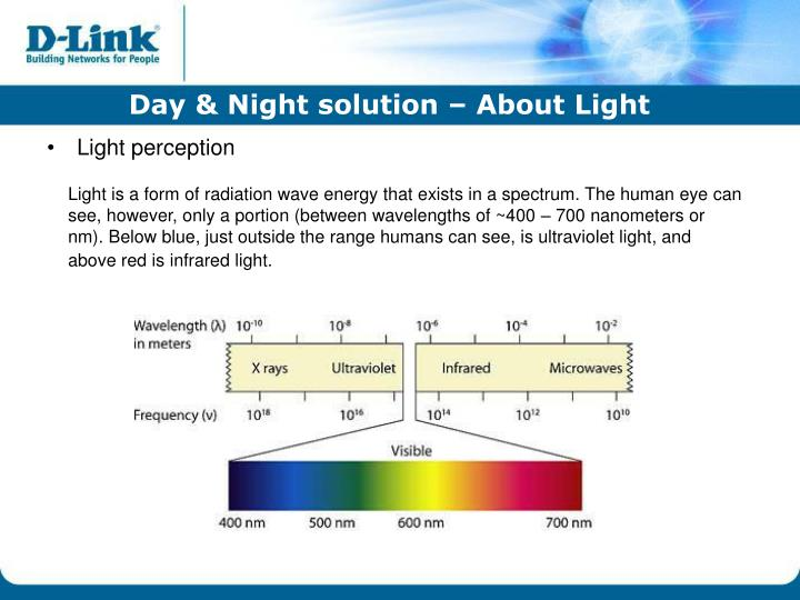 Day & Night solution – About Light