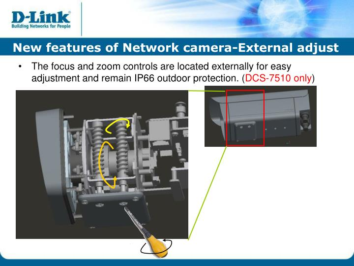 New features of Network camera-External adjust
