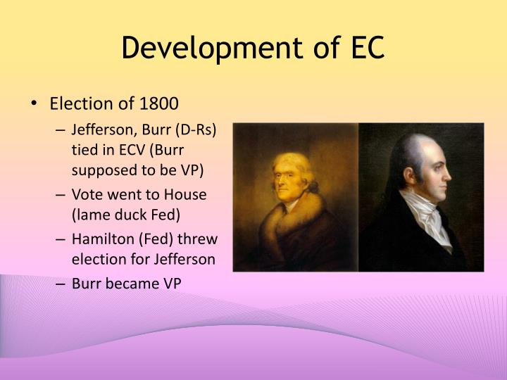 Development of EC
