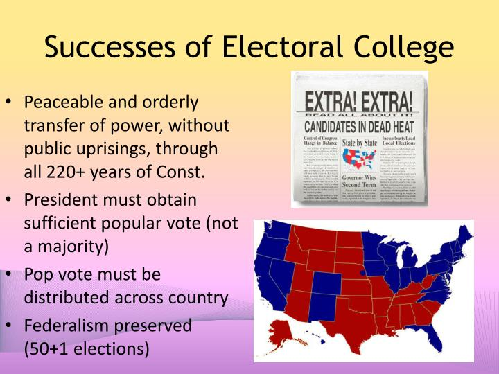 Successes of Electoral College