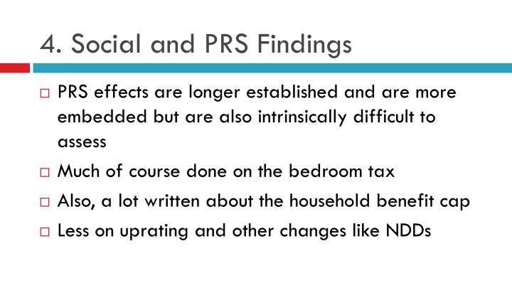 4. Social and PRS Findings
