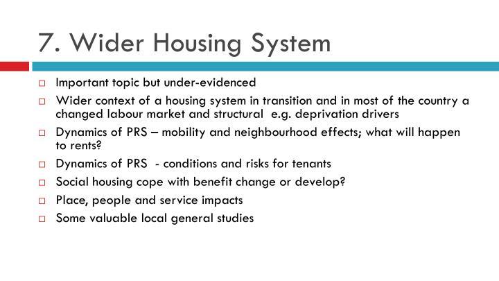 7. Wider Housing System