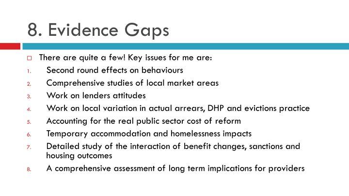 8. Evidence Gaps