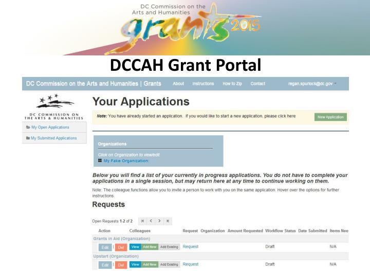 DCCAH Grant