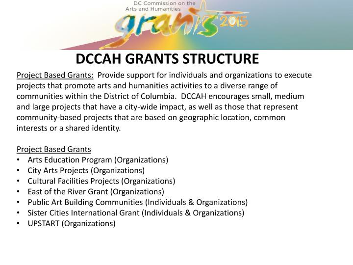 DCCAH GRANTS STRUCTURE