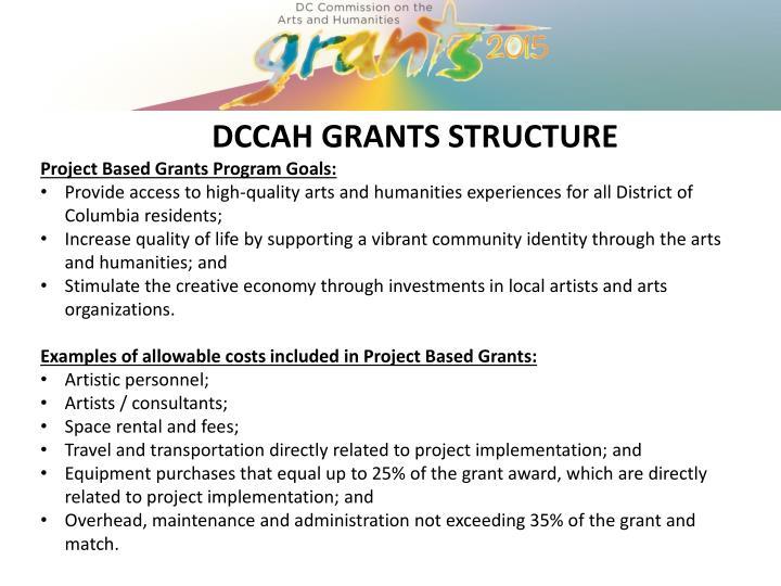 DCCAH GRANTS