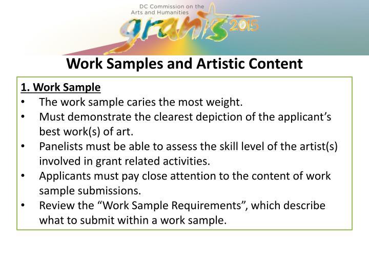 1. Work Sample