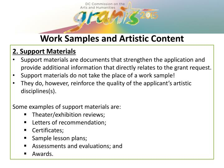 2. Support Materials
