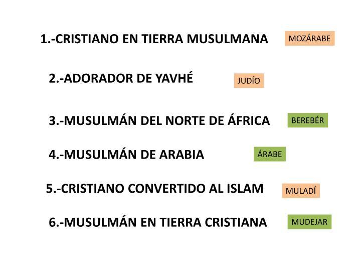 1.-CRISTIANO EN TIERRA MUSULMANA