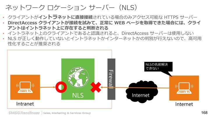 ネットワーク ロケーション サーバー(