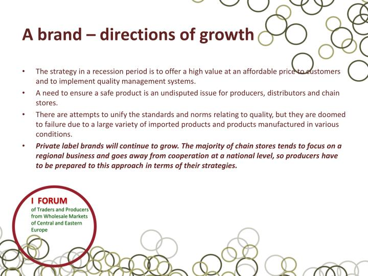 A brand – directions of