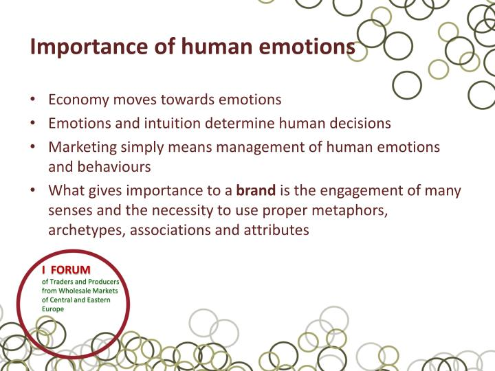 Importance of human emotions