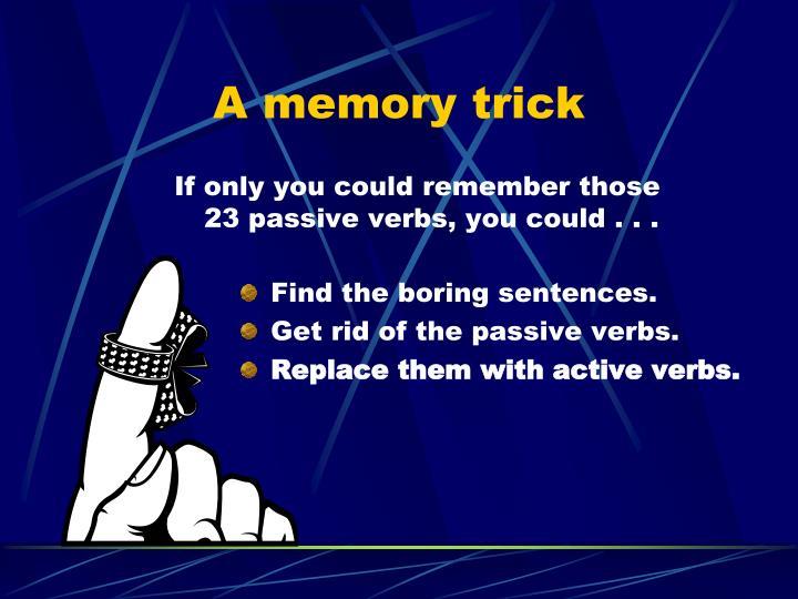 A memory trick
