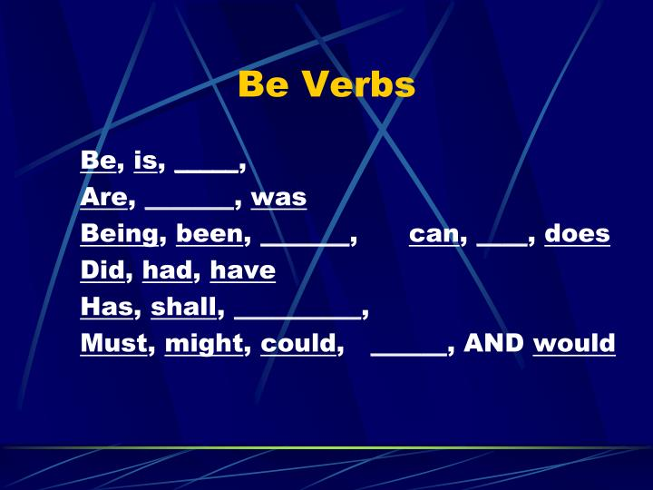 Be Verbs