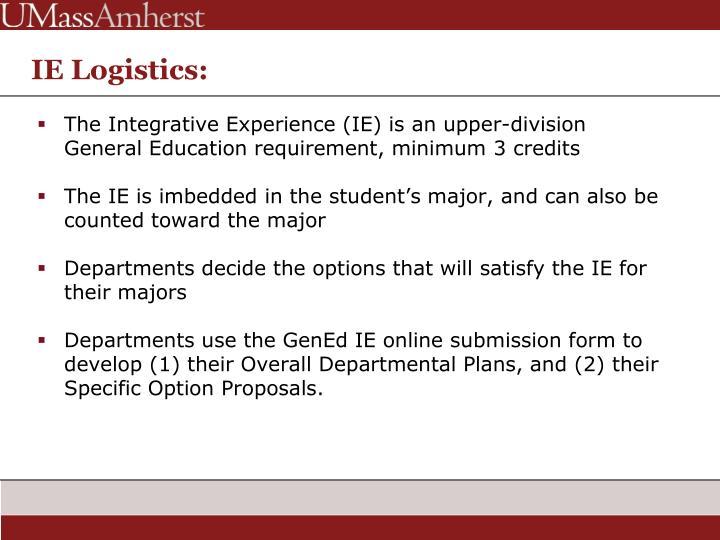 IE Logistics: