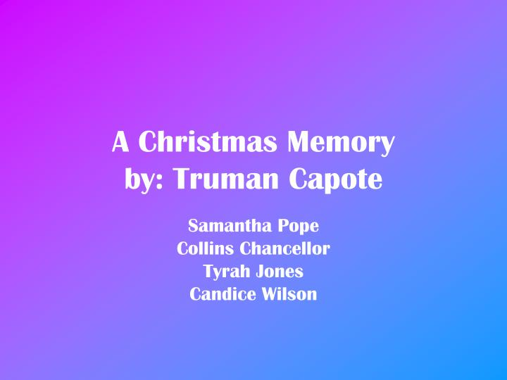 christmas memories descriptive personal essay