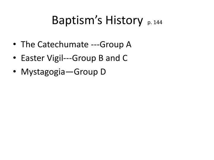 Baptism's History