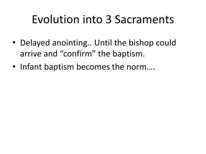 Evolution into 3 Sacraments