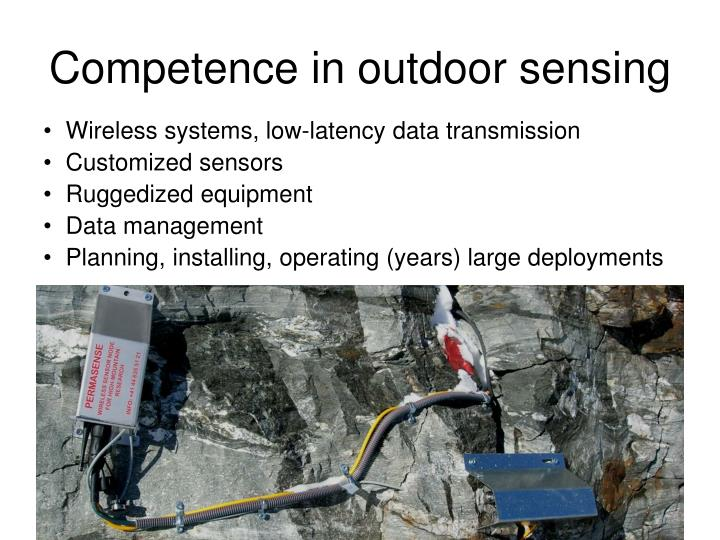 Competence in outdoor sensing