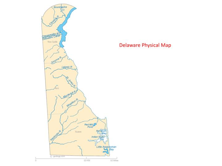 Delaware Physical Map
