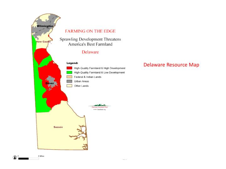 Delaware Resource Map