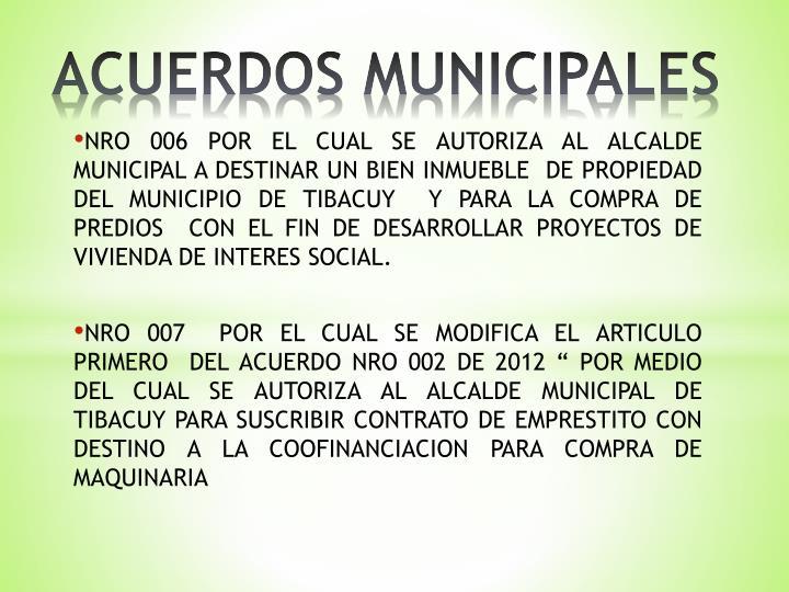 ACUERDOS MUNICIPALES