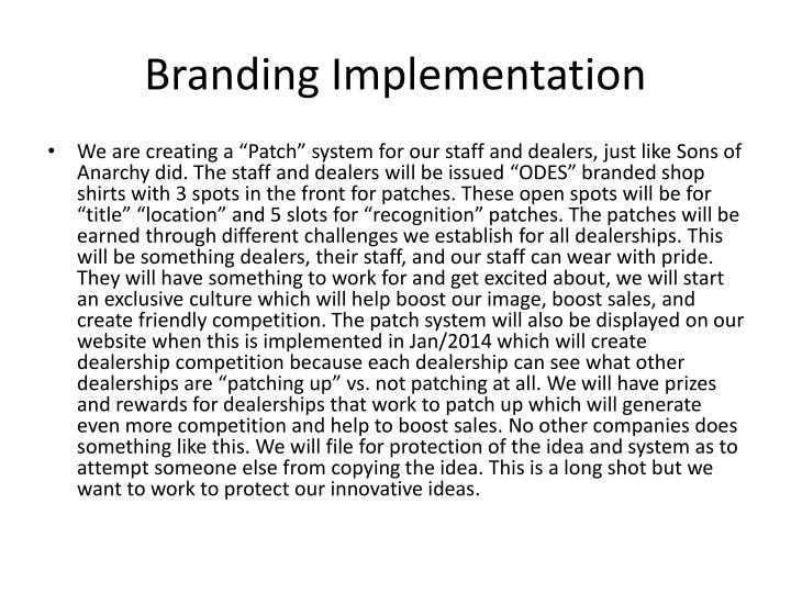 Branding Implementation