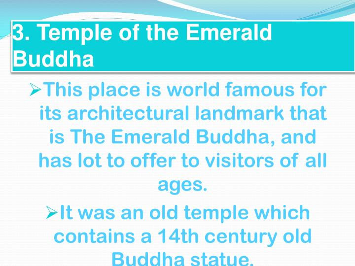 3. Temple of the Emerald Buddha