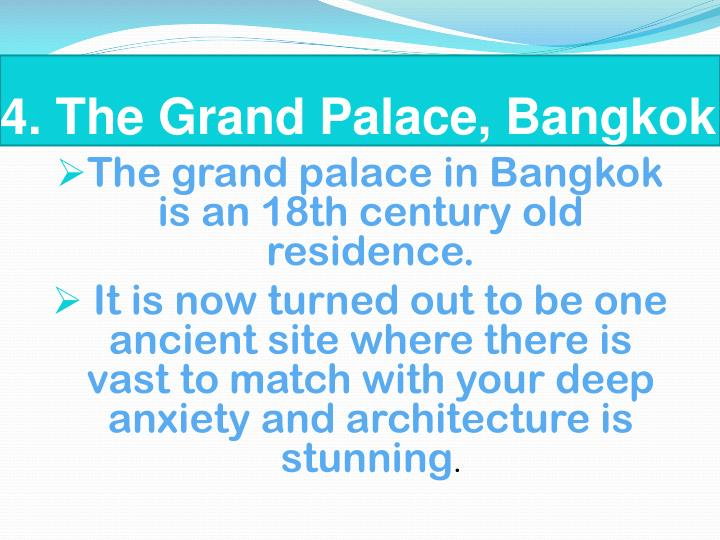 4. The Grand Palace, Bangkok