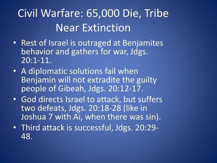 Civil Warfare: 65,000 Die, Tribe Near Extinction