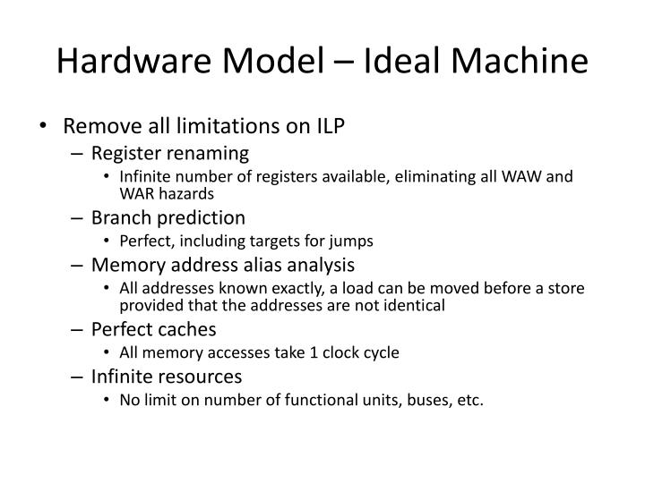 Hardware Model – Ideal Machine