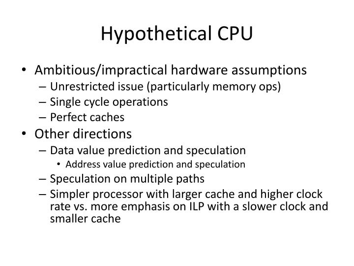 Hypothetical CPU