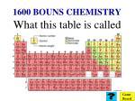 1600 bouns chemistry
