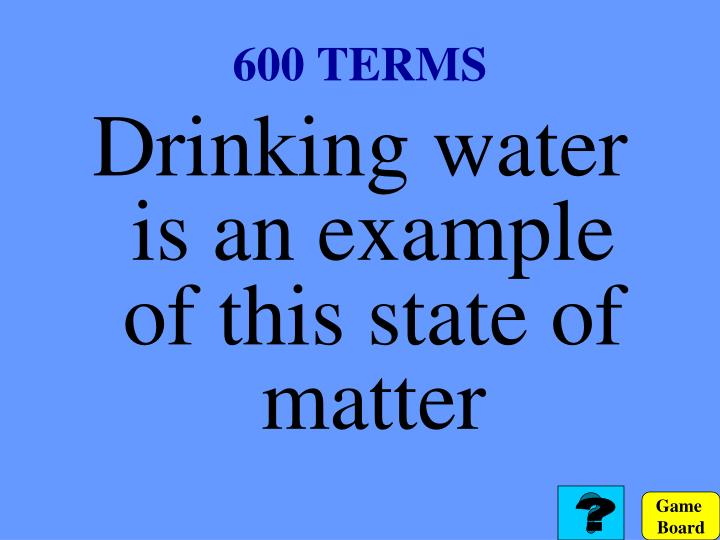600 TERMS