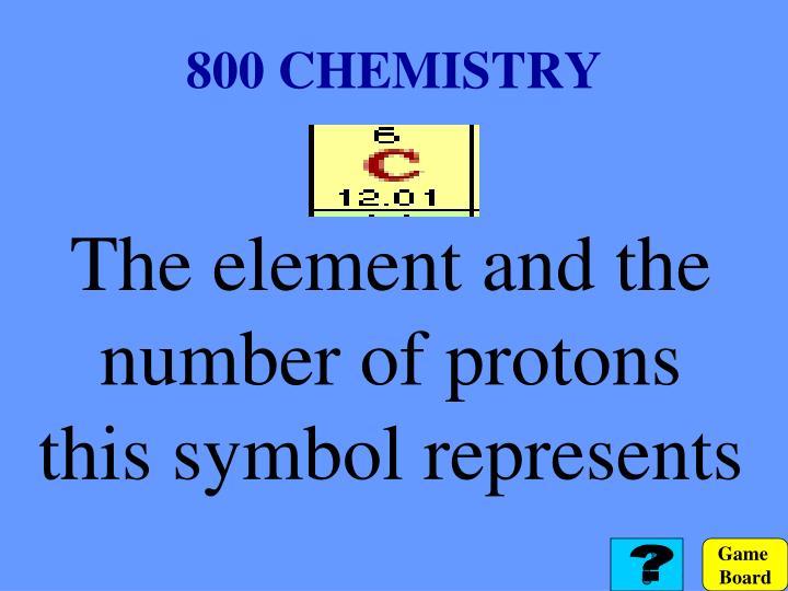 800 CHEMISTRY