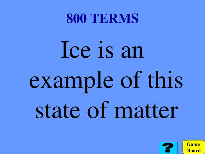 800 TERMS