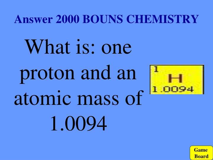 Answer 2000 BOUNS CHEMISTRY