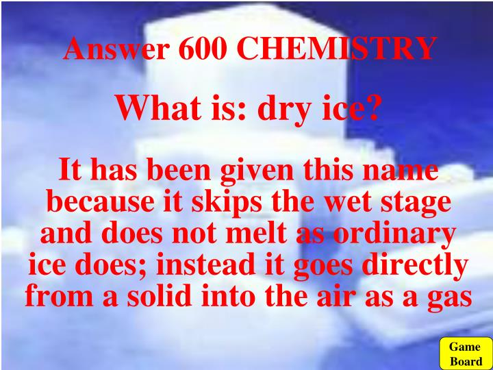 Answer 600 CHEMISTRY