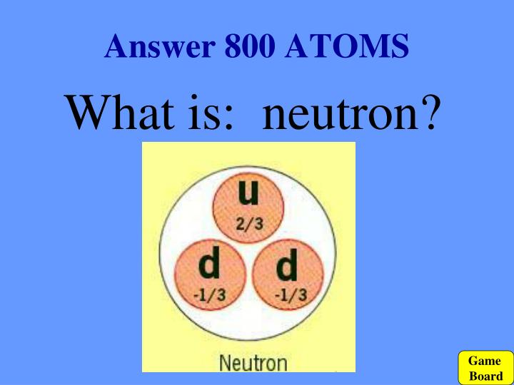 Answer 800 ATOMS