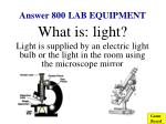 answer 800 lab equipment