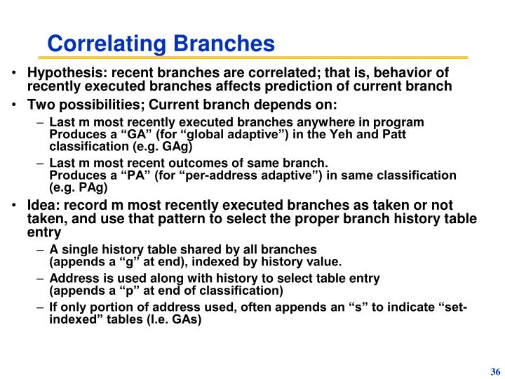 Correlating Branches