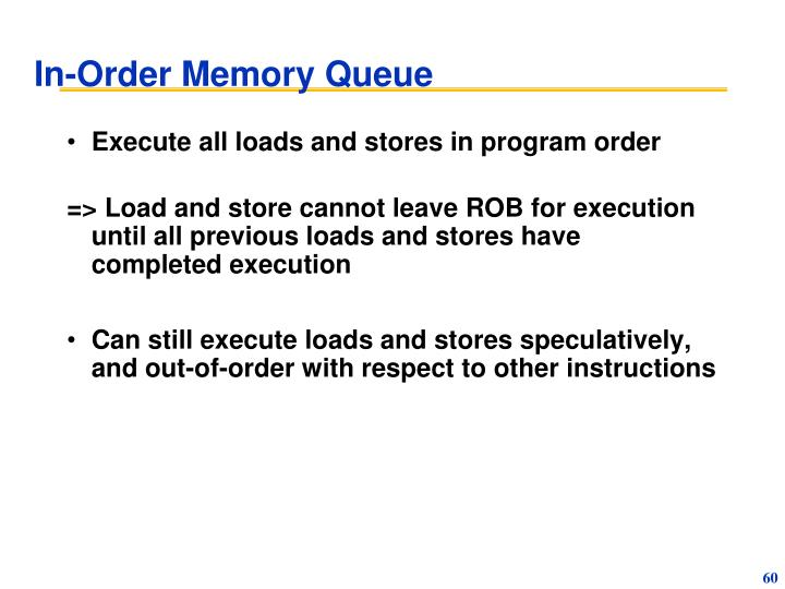In-Order Memory Queue